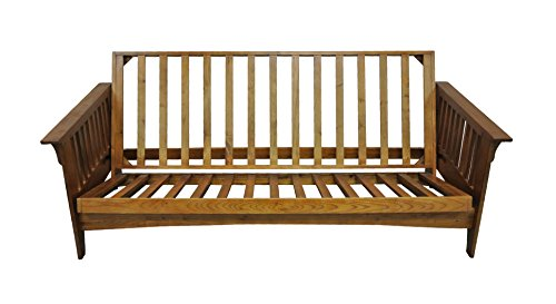 Gold Bond AOSHC + BOQC Boston Cherry Oak Futon Frame, Queen, (Cherry Queen Futon)