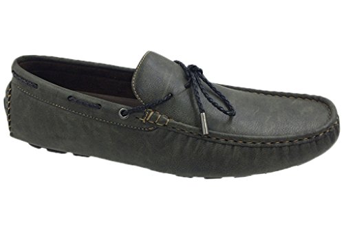 - Mecca ME-2709 Tony Men's Lace Slip-On Loafers Shoes