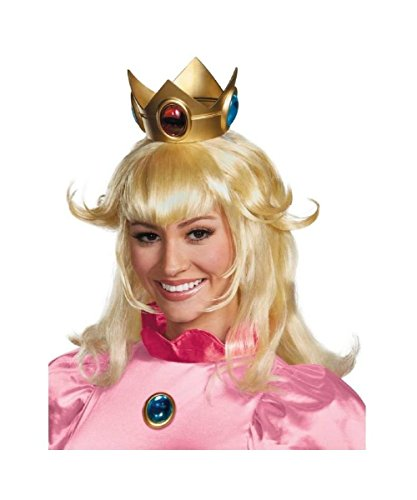 [Princess Peach Wig Costume Accessory] (Princess Peach Costumes Women)