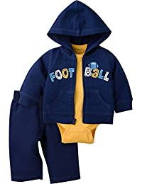 Gerber Baby Boys'' 3 Piece Hooded Jacket Bodysuit and Pant Set