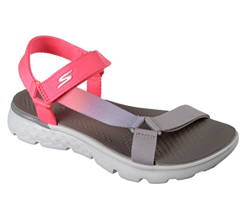 Taupe Sandal the On Pink GO Jazzy Women's 400 Skechers qCwFOc0