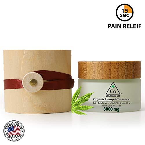Hemp Cream | The Colorado CO | 3000Mg | Natural Hemp Pain Relief Cream for Inflammation, Muscle, Joint, Back, Knee & Arthritis Pain - Hemp Salve Contains Arnica, MSM - Non-GMO (50 Gram)