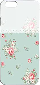 green flower floral decorative border Hard Unique Designer Slim Pattern Thin Protective Shockproof Drop Proof Cover Protector Case for Apple Iphone 6 4.7 inches