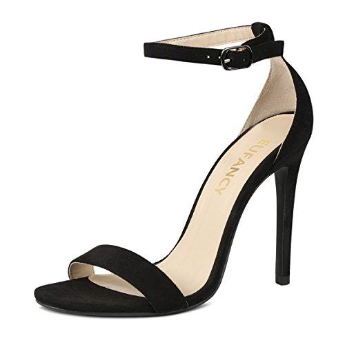 Eufancy Women's Open Toe Ankle Strap High Heel, Dress Wedding Party Sandal