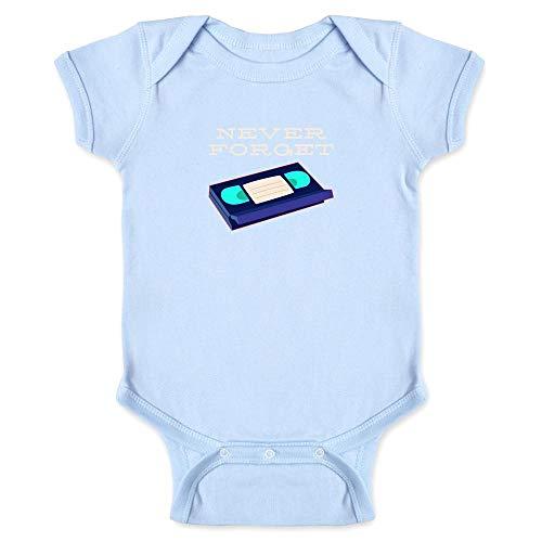 Price comparison product image Pop Threads VHS Tape Never Forget Light Blue 6M Infant Bodysuit