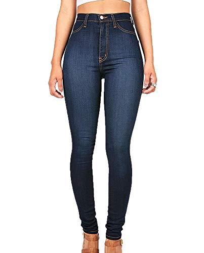 Hellomiko Womens Skinny Jeans Leggings elásticos Cintura Azul Oscuro