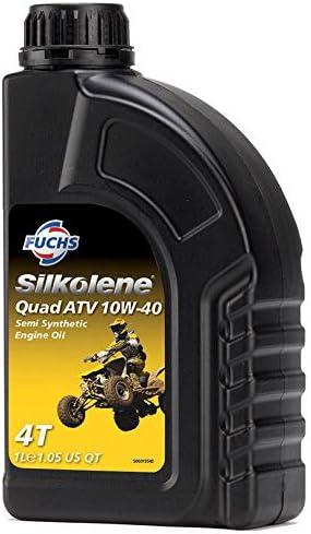 Silkolene Aceite de Motor de Motocicleta semisintético a Base de Ester, Quad ATV 10W-40 1 l: Amazon.es: Coche y moto