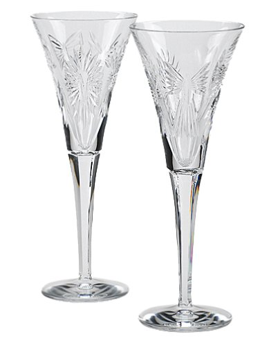 Waterford Millennium Universal Wishes Toasting Flute Pair by Waterford
