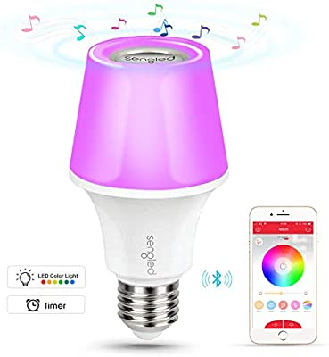App Controlled Work with  Echo Sengled Solo Pro Smart LED Bulb Dimmable with JBL Bluetooth Wireless Speaker 2700K Soft White E27 Smart Bulb