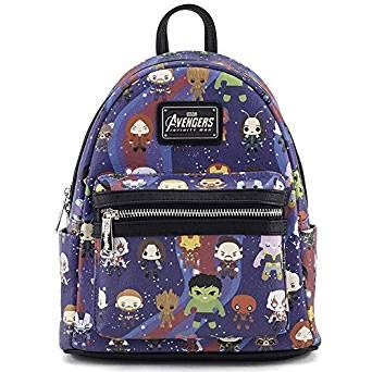 Loungefly x Avengers Chibi AOP Mini Backpack