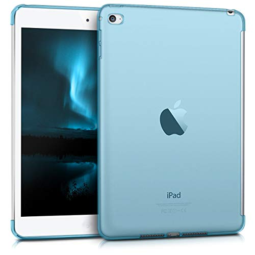 kwmobile Crystal Case for Apple iPad Mini 4 - TPU Silicone Smart Cover Compatible Protective Cover - Blue