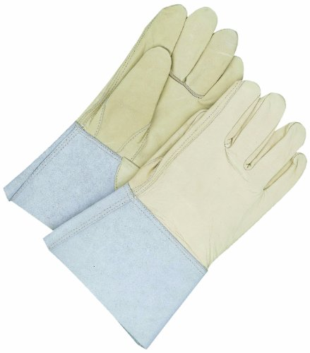 BDG 60-1-1274-9 Leather Welding Glove with Gauntlet Cuff, Small ()