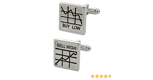 Silver and Black Colours COLLAR AND CUFFS LONDON Premium Cufflinks with Presentation Gift Box Unusual Leatherette Strap and Square Wrap Around