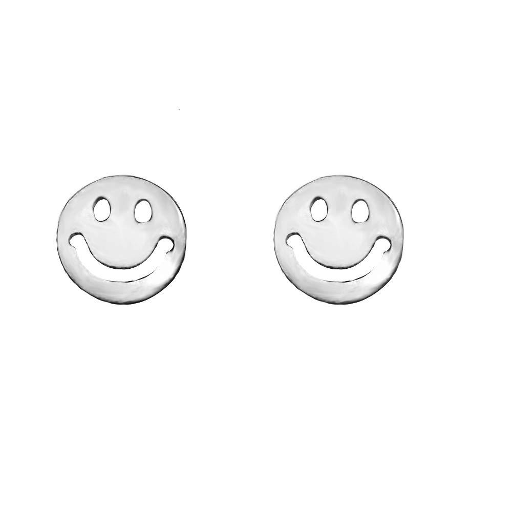 Cross Earrings Elk Stud Earrings Cross Stud Earrings 925 Sterling Silver Stud Earrings,Tiny Stud Earrings Smiling face Earrings