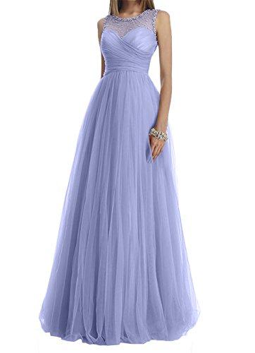 Prinzess Abendkleider Rock Festlich Abschlussballkleider linie Charmant A Damen Lawender Prinzess Lang Abiballkleider g5wTqI