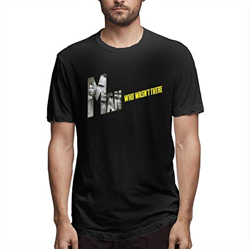 Liangbin Dklwm Men's The Man Who Wasn't There Leisure T Shirt Black M with Short Sleeve
