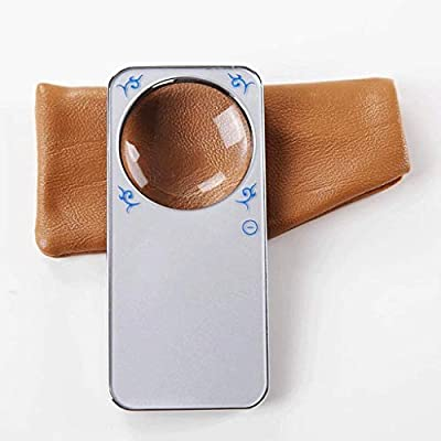 Magnifierks Lupa, Lupa de Bolsillo con luz LED - 20X pequeña ...