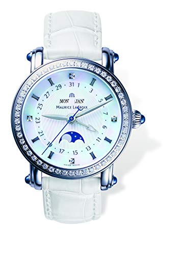 Maurice Lacroix Masterpiece 'Phase de Lune Dame' Blue Diamond Ladies Watch MP6066.SD501.17E