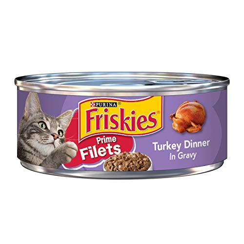 Purina Friskies Gravy Wet Cat Food, Prime Filets Turkey Dinner - (24) 5.5 oz. Cans