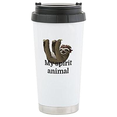 Cafepress My Spirit Animal Stainless Steel Travel Mug, Insulated 16 Oz. Coffee Tumbler - Sloth Novelty Coffee Mugs