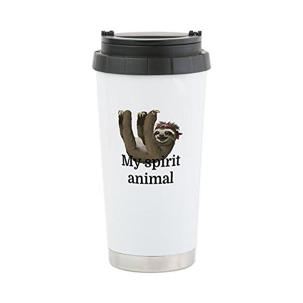 Cafepress My Spirit Animal Stainless Steel Travel Mug, Insulated 16 Oz. Coffee Tumbler -