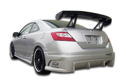 Duraflex ED-VUR-394 Raven Rear Bumper Cover - 1 Piece Body Kit - Compatible For Honda Civic 2006-2011