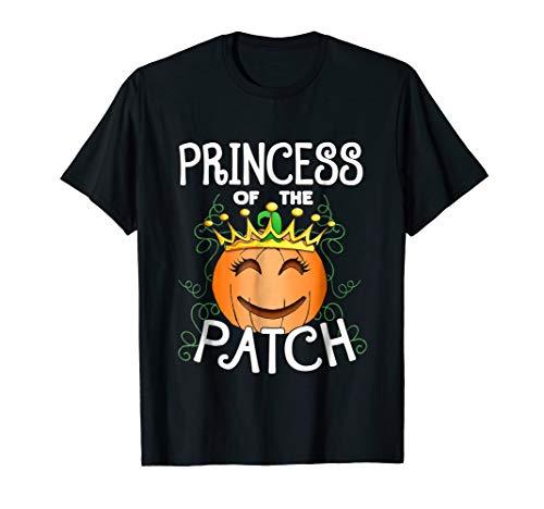Halloween Pumpkin Princess of The Patch T Shirt ()