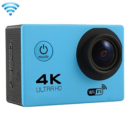 Professional Product Easy to Use F60 2.0 inch Screen 4K 170 Degrees Wide Angle WiFi Sport Action Camera Camcorder with Waterproof Housing Case, Support 64GB Micro SD Card ( Color : Blue )