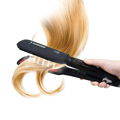 YJF-ZFQ Hair Steam Straighteners Professional Salon Ceramic Tourmaline Vapor Steam Flat Iron Hair Straightener, Dual Voltage with LED Display with Adjustable Temp