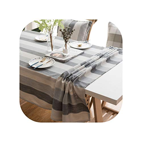 (Tablecloths 2019 American Tablecloth Waterproof Fabric Rectangular Stripe Fresh Coffee Table Round Table Gabe Towel A Hair)