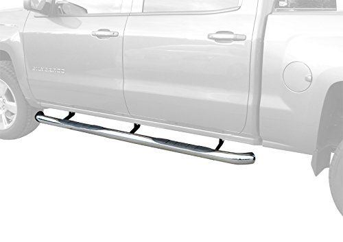 """MaxMate Custom Fit 2007-2018 Chevy Silverado/GMC Sierra 1500/2500/3500 Crew Cab(Excluding Diesel Models With Def Tanks)Stainless Steel 3"""" Step Rails Nerf Bars Running Boards(2pcs with Mount Board Kit)"""
