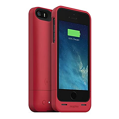 mophie juice pack Helium for iPhone 5/5s/5se (1,500mAh) - Red (A Charging Iphone 5 Case)