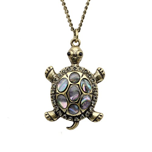 (Linana Vintage Tortoise Turtle Long Necklace for Women Fashion Jewelry)