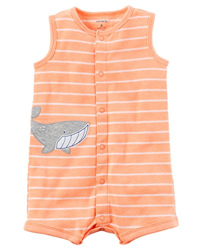 Carter's Baby Boys' Striped Shark Snap Up Romper 18 Months