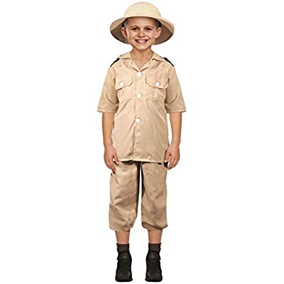 Kids Boys Girls Safari Explorer World Book Day Carnival Job Occupation Fancy Dress Costume Outfit 4-12 Years: Clothing