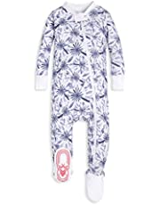 Burt's Bees Baby - Baby Girls Sleeper Pajamas, Zip Front Non-Slip Footed Sleeper PJs, 100% Organic Cotton