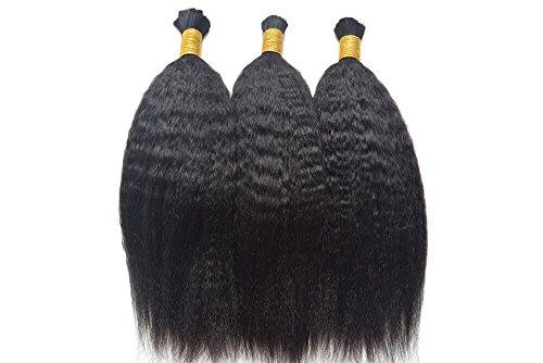 3pcs/lot Mongolian Virgin Human Hair Afro Kinky Straight ...