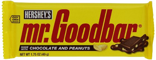 MR GOODBAR Chocolate Candy Bar with Peanuts, 1.75 Ounce (Pack of 36) - Box 36ct Bars Chocolate