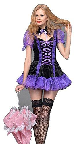 Disfraz para mujer, diseño francés, color morado, para Halloween ...