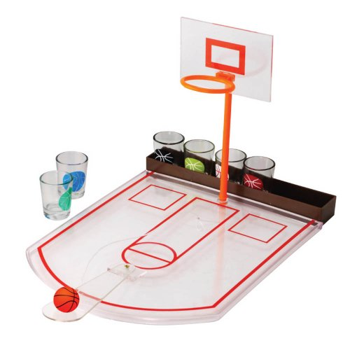 Fine Life Tabletop Mini Basketball Shot Glass Game Men College Students Summer Fun