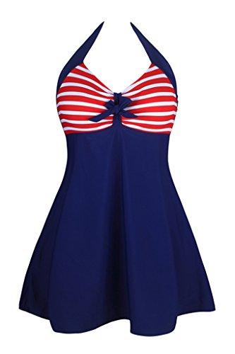 Dokotoo Womens Vintage Skirtini Swimdress
