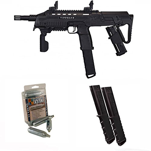 Tippmann TCR Magfed Tactical Compact Rifle Paintball Gun 3Skull 12rd Mag Set ()