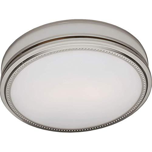 Hunter Night Light - Hunter 83001 Riazzi Bathroom Fan with Light and Nightlight, Brushed Nickel