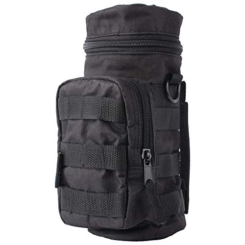 ExtremePak Water Bottle Molle Pouch, Quickly Connects to All Compatible Vests, Parkas, Belts and More, Black