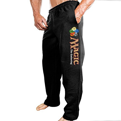 Price comparison product image TONGY Men's Magic MTG The Gathering Comfortable Tour Funny Sweatpants Leisure Wear Size M Black