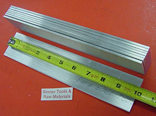 8 Pieces 1/8'' X 2'' Aluminum 6061 Flat BAR 10'' Long .125'' T6511 Plate Mill Stock
