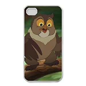 iphone4 4s Phone Case White Bambi Friend Owl CLL3662822