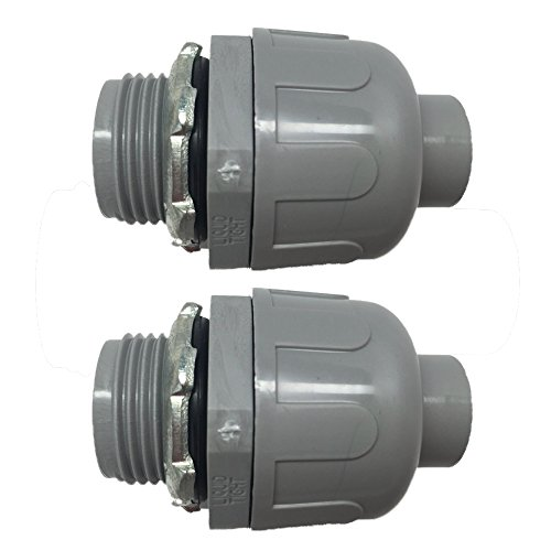 "Pro Line Series 2 Pack - 3/4"" Non-Metallic Electrical Liquid Tight Conduit Straight Fittings - 5105034100-2"