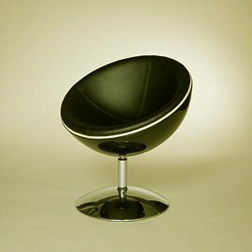 Retro Schalen Sessel 70er Design Stuhl Lounge Mobel C13 Schwarz