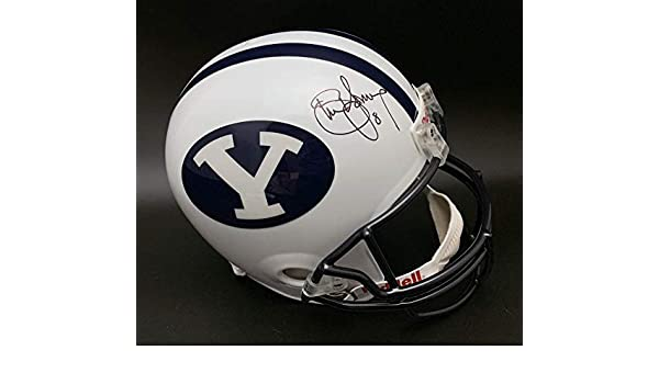 b9148e22f Amazon.com  Steve Young Autographed Signed Brigham Young University F S Helmet  Itp Memorabilia PSA DNA Autographed Signed  Sports Collectibles